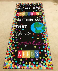 Starting Term 2 with a fresh new door display thanks to 🌈 I'm hoping to foster some positive vibes in my classroom and… Classroom Bulletin Boards, School Classroom, Classroom Themes, Classroom Decor, Bulletin Board Ideas For Teachers, Kindergarten Classroom Door, Classroom Wall Quotes, World Bulletin Board, Counselor Bulletin Boards