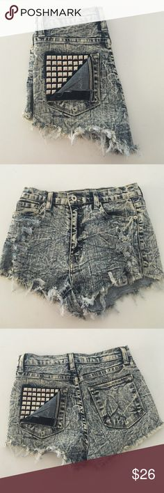 Ripped high rise shorts Only worn once!! 81% cotton 17% polyester 2% spandex WINDSOR Shorts Jean Shorts