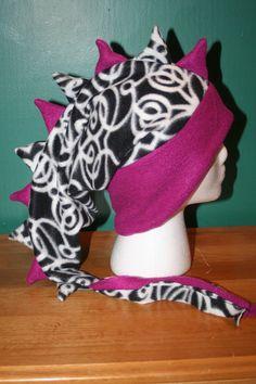 REDUCED 25% Purple & Black/White Swirls Fleece by thelopsidedfrog, $15.00