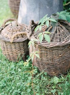 Country Living, Wicker Baskets, Rattan, Provence, France, God, Decor, Gardens, Country Life