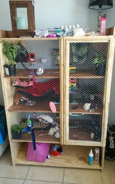 My rats cage! Homemade :D                                                                                                                                                                                 More