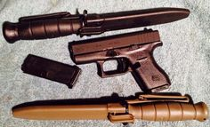 Glock G42 and 2 Glock knives