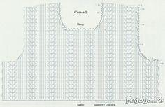 Вязаный детский сарафан, схемы