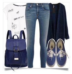 """School Style"" by madeinmalaysia ❤ liked on Polyvore featuring MANGO, Vans and rag & bone"