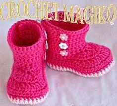 Botitas para bebé tejidos - Imagui