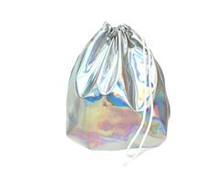 KLEIN Holographic Laser Leather Türkis Gym Bag  hannisch