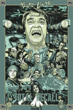 Total Recall - movie poster - Chris Morkaut