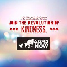 Join the Revolution of Kindness - live vegan!