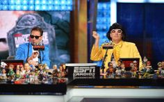 Mike & Mike at Halloween. Mike And Mike, Espn, Baseball Cards, Halloween, Sports, Hs Sports, Sport, Spooky Halloween