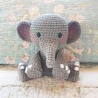 Traduction Français Patron Amigurumi : L'éléphant au crochet – Made by Amy