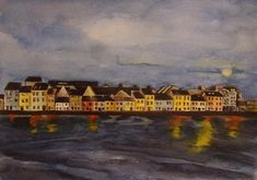 The Long Walk - A Clear Night Long A, Giclee Print, Ireland, Walking, Night, Antiques, Prints, Artist, Painting