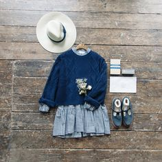 Layering is everything this Autumn, find our Chain Pattern Knit Jumper, Check Tiered Dress and Olive Make-up Bag online and in store   http://www.oliveclothing.com/p-oliveunique-20160822-019-navy-chain-pattern-knit-jumper-navy