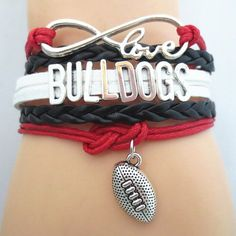 Infinity Love Georgia Football Bracelet (R-BK-W) - FREE + Shipping Offer