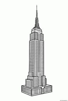 City Adult New York Empire State Building Coloring Pages Printable And Book To Print For Free Find More Online Kids Adults