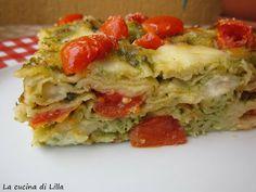 La cucina di Lilla (adessosimangia.blogspot.it): Primi: Lasagne di pane carasau, pesto stracchino e...