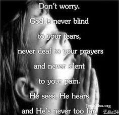 God isnt blind.