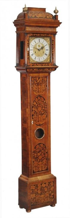 A William III walnut and floral marquetry longcase clock of one month duration, John Barnett, London, circa 1695