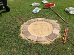 DIY Fire Pit and Seating Area : 15 Steps (with Pictures) - Instructables Fire Pit Ring, Diy Fire Pit, Fire Pit Backyard, Landscape Edging, Landscape Fabric, Crushed Limestone, Grass Weeds, Fire Pit Landscaping, Fit Pit