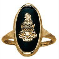 Imperial Onyx Crest Ring | Kappa Alpha Theta #theta1870