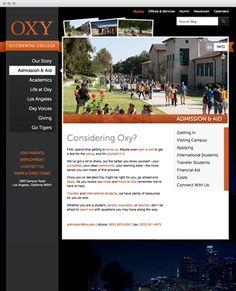 Occidental College Home - www.oxy.edu #webdevelopment #drupal #oxy