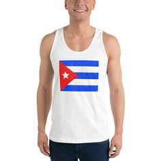 Cuban Flag Dotted Classic tank top (unisex) Cuban Flag, American Apparel Style, Raglan Shirts, Knit Beanie, Racerback Tank, Tank Man, Unisex, Tank Tops, Classic