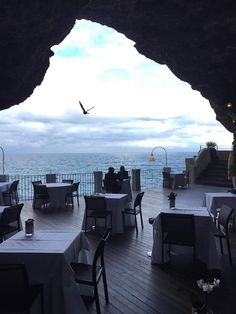 """""""Grotta Palazzese"""" - The Restaurant in the Cave in Polignano a mare - Puglia - Italy  http://www.polignanomadeinlove.com/content/  #polignanomadeinlove #ilovepolignanoamare #beautiful #awesome #great #WeAreInItaly #WeAreInPuglia #WeAreInPolignano #visitpuglia #discoveringpuglia #polignanolovers"""