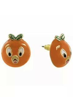 Disney Parks Retro Orange Bird Pierced Earrings Set on original card. Disney Fun, Disney Parks, Walt Disney, Bird Earrings, Pierced Earrings, Orange Bird, Magic Bands, Disney Jewelry, Cartoon Art