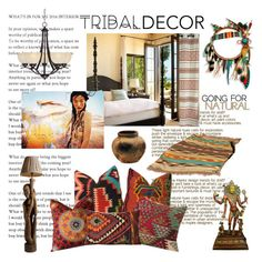 """""""Tribal decor"""" by jamie1975 ❤ liked on Polyvore featuring interior, interiors, interior design, home, home decor, interior decorating, JEM, Universal Lighting and Decor and tribaldecor"""