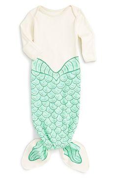 Electrik Kidz 'Ariel' Mermaid Print Organic Cotton Gown (Baby Girls) (Online Only)