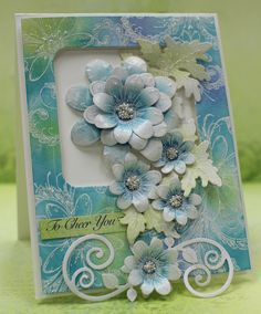 Heartfelt Creations Peacock Paisley card