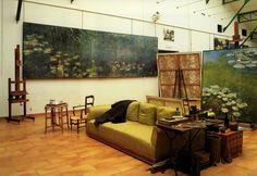 "patrickhumphreys: "" The waterlily studio at Claude Monet's home at Giverny. Photo by Guy Bouchet. """