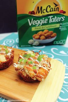 Serve these delicious cheesy chicken bacon ranch taters as a game day appetizer - it's a crowd pleaser. Shhh - don't tell them that it also has veggies! #ad #VeggiesWithMcCain