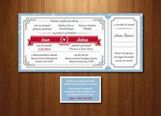 """Invitație """"Basm de iarnă"""", format DL (21 x 10cm)."""