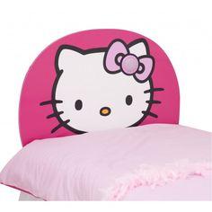 World Apart 457KTY - CABECERO INFANTIL DE MADERA CON LUZ - Hello Kitty