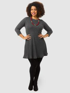 Pleated A-Line Sweater Dress by Style&Co