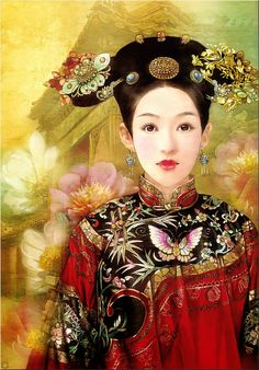 Eastern art kimono - Der Jen (Dezhen) from Taiwan💕 Russian Painting, Chinese Painting, Chinese Art, Art Asiatique, Art Japonais, Chinese Culture, Japanese Art, Female Art, Asian Beauty
