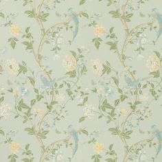 Designer Wallpaper | Summer Palace Eau De Nil Wallpaper