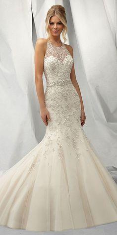 Mermaid Wedding Dresses From Top World Designers ❤ See more: http://www.weddingforward.com/mermaid-wedding-dresses/ #weddings #weddingdress
