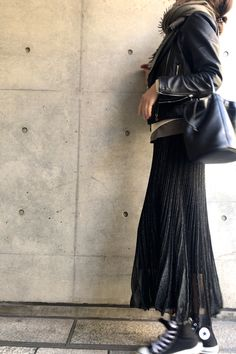 hard but feminine / コーディネート詳細 / Kyoko Kikuchi's Closet Style Me, Cool Style, Riders Jacket, Daily Fashion, Autumn Winter Fashion, Outfit Of The Day, Rock, Casual Outfits, Street Style