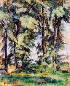 Grands arbres au Bas de Jouffan - Paul Cézanne - 1890