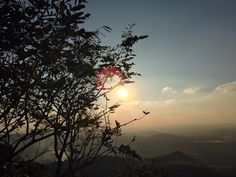 fim de tarde no pico do Jaraguá