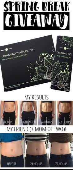 These wraps have a botanical blend of ingredients that help instantly tighten and tone your skin. Once absorbed, the ingredients also help your cells release built up toxins and waste---resulting in lifted, smooth, defined skin.