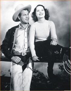 THE COWBOY AND THE LADY (1938) - Rodeo cowboy Gary Cooper falls for society girl Merle Oberon - Directed by H. C. Potter - - Samuel Goldwyn Company - Publicity Still.