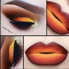 Fall inspired makeup #fall #halloween