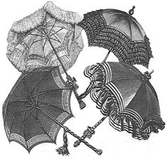 Parasol Covers - New Pattern! - A parasol is going to be so very necessary - might as well make it match, right?
