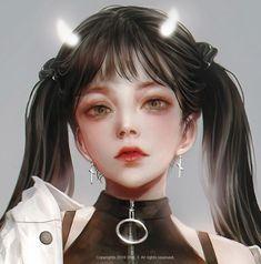 New anime art girl fantasy digital paintings 49 ideas Japonese Girl, Queen Anime, Painting Of Girl, Painting Art, Realism Art, Semi Realism, Cg Art, Digital Art Girl, Beautiful Anime Girl