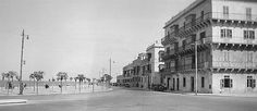 Memories of Malta in the 1930's    Tower Road, Sliema looking towards Sliema, this view was taken where the New Tower Palace Hotel now stands.