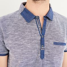 Polo short sleeve T-Shirt – Gift Ideas Polo Vest, T Shirt Polo, Mens Polo T Shirts, Tee Shirt Homme, Boys T Shirts, Men's Polo, Polo Shirt Design, Polo Design, Camisa Polo