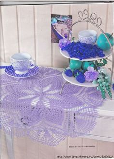 Large Crochet Doily Lavender Crochet Tablecloth by CrochetMiracles, $40.00https://www.etsy.com/listing/150711516/large-crochet-doily-lavender-crochet?ref=pr_shop