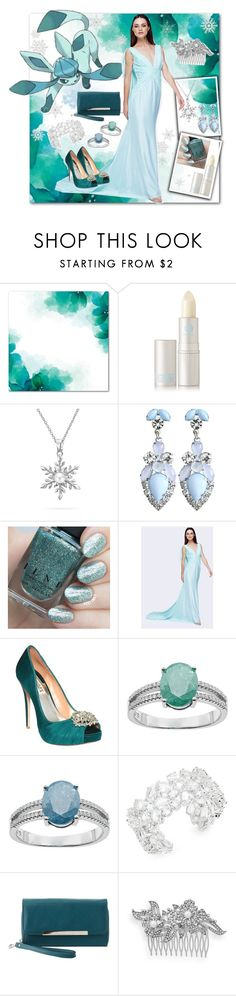 """""""Pokemon ~ Glaceon"""" by vwillbanks ❤ liked on Polyvore featuring Lipstick Queen, Bling Jewelry, Fame & Partners, Badgley Mischka, Kate Spade, Charlotte Russe and Crystal Allure"""